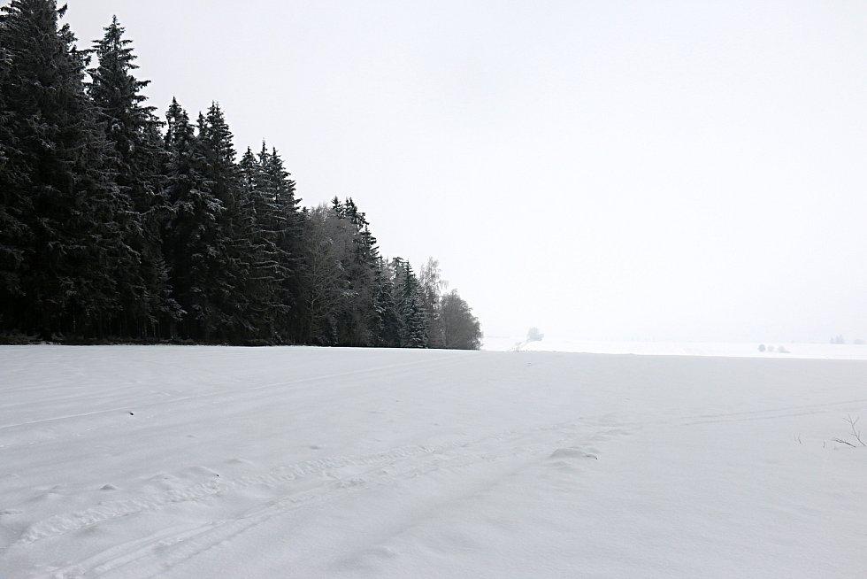 Na kopci Blažkově je evropské rozvodí.