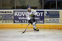 Hokejisté Velkého Meziříčí (na snímku) doma v sobotu potvrdili roli favorita a nepříjemné Rosice dokázali zdolat poměrem 6:1.
