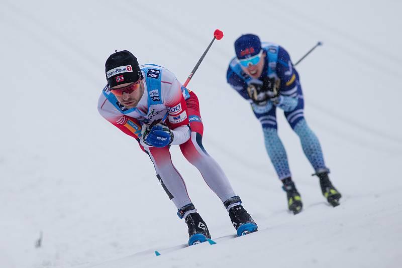 Ohlédnutí za Zlatou lyží 2020. Stíhací závod mužů na 15 km klasicky v rámci Světového poháru v běhu na lyžích.