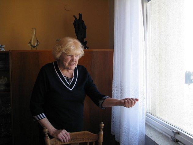 """Lydie Cimalová z Bystřice nad Pernštejnem si nedovede vysvětlil, proč by jí do oken skutečně někdo střílel, či házel kamení. """"Těžko by se při tom rozbila jen vnější skla a střela nebo kámen by neprorazily vnitřní sklo a neprolétly do bytu,"""" říká bývalá uč"""