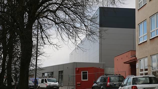 Nová sportovní hala v Novém Městě na Moravě.