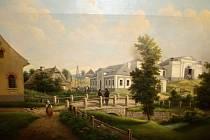 Obraz kadovské hutě namaloval v 70. letech 19. stol. malíř Josef Ledeli je součástí sbírek Horáckého muzea.