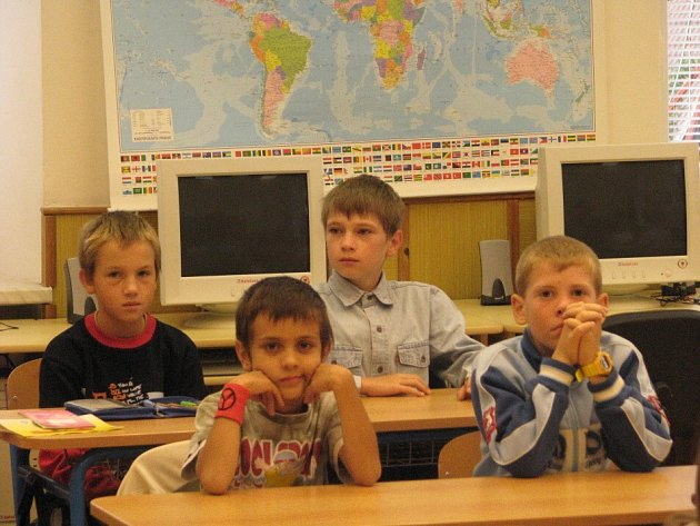 První školní den v Základní škole v Řečici.