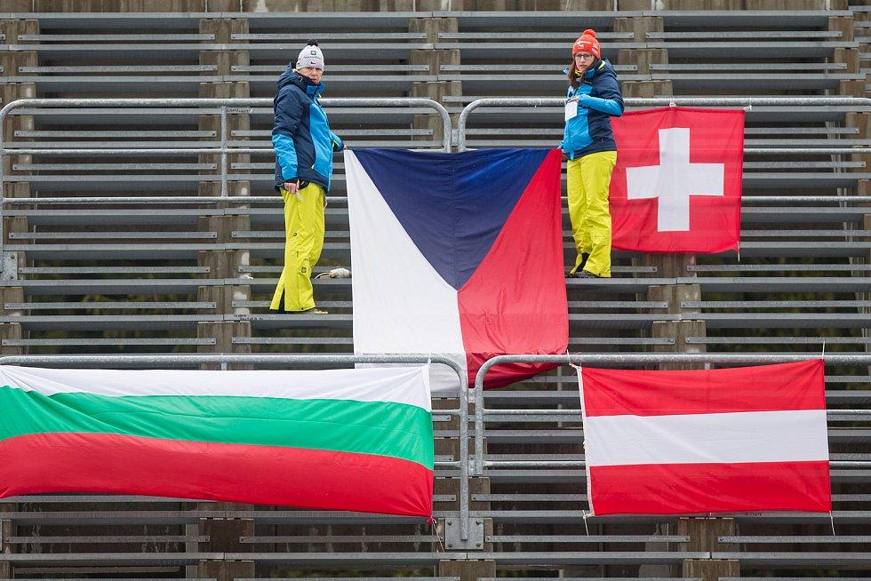 Prázdné tribuny ve Vysočina areně. Diváci chyběli nejen na stadionu, ale i v hotelech a penzionech v okolí.