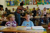 První školní den v Základní škole Švermova ve Žďáře nad Sázavou.