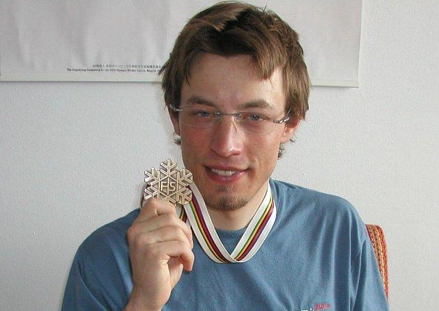 Martin Koukal s bronzem z MS v Oberstdorfu 2005