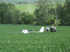 Sportovní letadlo havarovalo v pátek dopoledne u Křižanova.