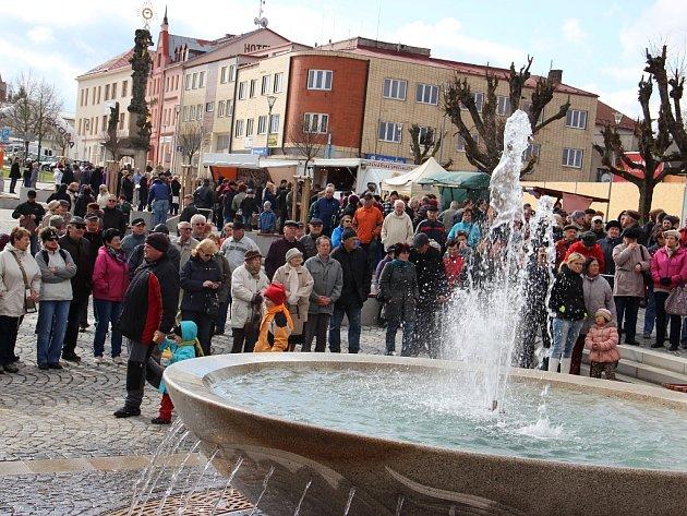 Otevření zrekonstruovaného náměstí Republiky ve Žďáře nad Sázavou.