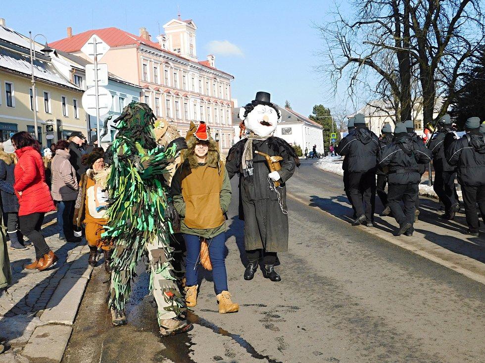 Masopustní průvod v Novém Městě. Foto: Deník/Lenka Mašová