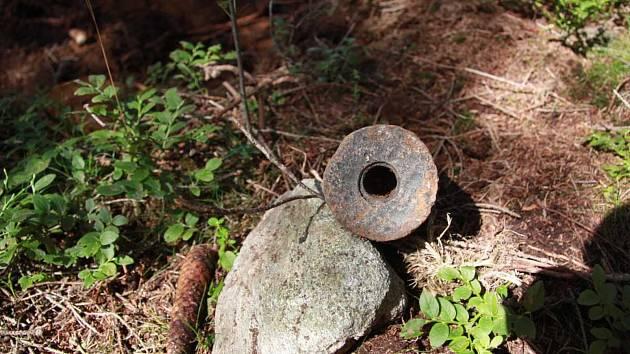 Nevybuchlá munice nalezená v katastru obcí Rokytno a Kadov na Novoměstsku.