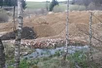 Materiál navezený společností Aquasys do CHKO Žďárské vrchy.