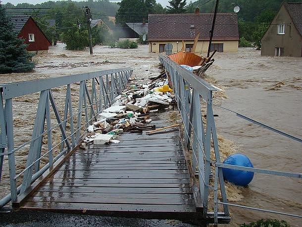Bílý Kostel nad Nisou na Liberecku zasáhla velká voda hned dvakrát: 7. a 15. srpna.