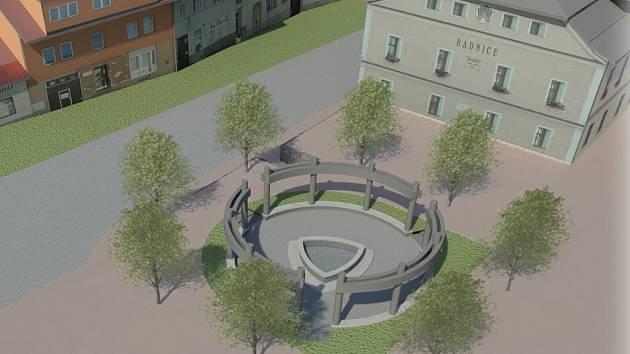 Uvnitř památníku bude fontána s bronzovou sochou svaté Zdislavy, kterou vytvoří akademický sochař Otmar Oliva.