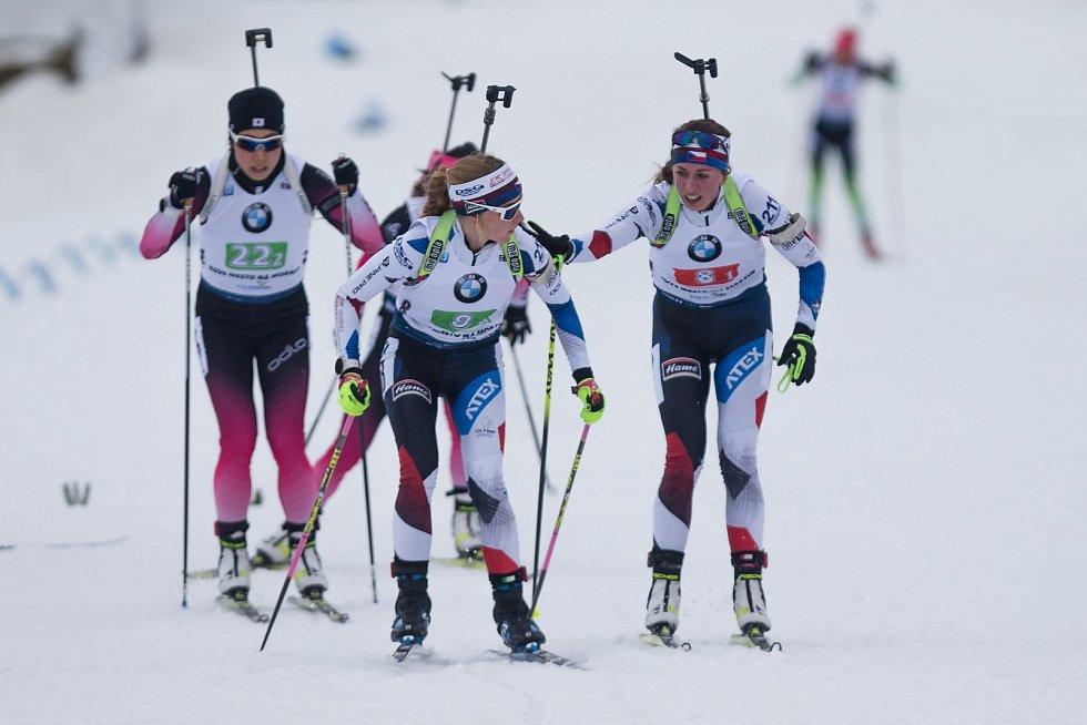 Minulé biatlonové závody ve Vysočina Areně.