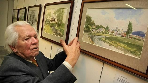 Výstava obrazů Stanislava Bělíka je k vidění ve výstavní síni Staré radnice ve Žďáře nad Sázavou.