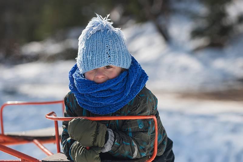 Zima v Hamrech nad Sázavou.