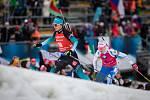 Závod s hromadným startem na 12,5 km žen v rámci Světového poháru v biatlonu.