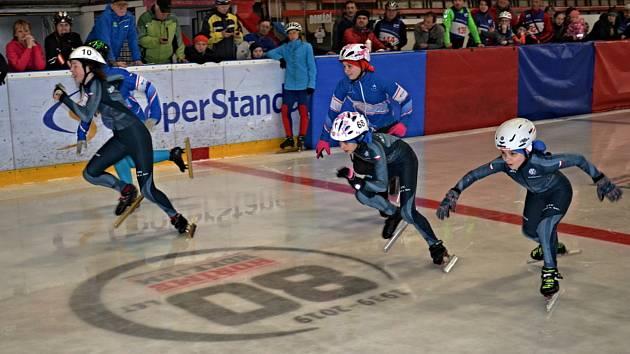 Jednou z disciplín Žďárské ligy mistrů je také short track.