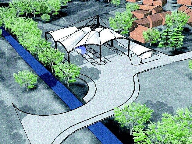 Takto bude vypadat nová odbavovací hala autobusového nádraží ve Velké Bíteši. Projekt má odstartovat příští rok pod podmínkou získání evropské dotace.