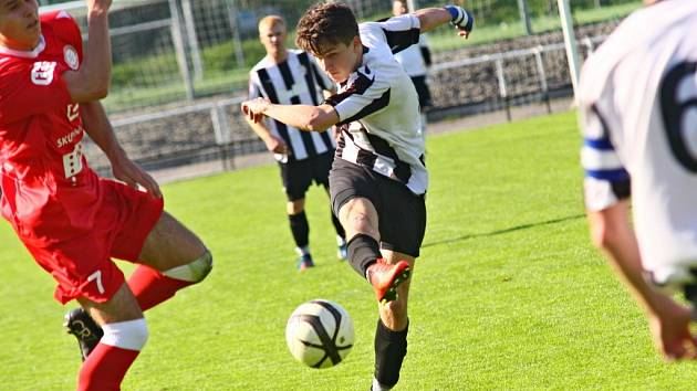 O dva góly Žďáru se postaral uzdravený Vilém Frieb, který hrál po šesti týdnech.