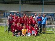 Fotbaloví reprezentanti žďárského okresu do dvanácti let na pražském turnaji excelovali.