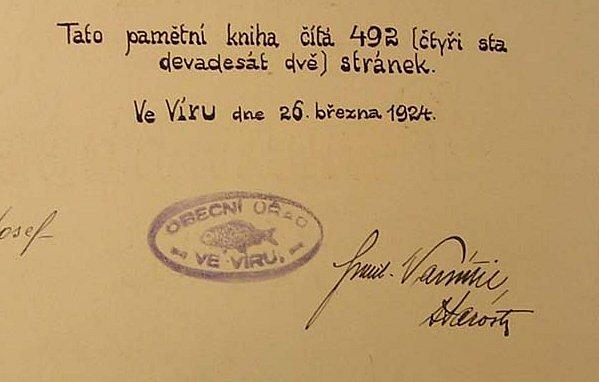 Fragment z vírské kroniky.