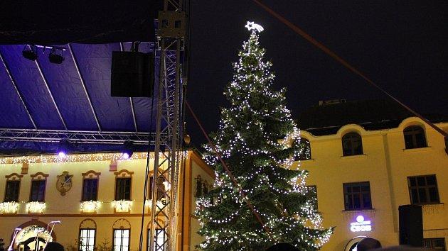 Ve Žďáře rozsvítili vánoční strom