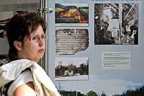 Putovní výstava Místa utrpení, smrti a hrdinství se skládá celkem z dvaceti osmi mobilních panelů fotografií s popisky. Jejím cílem je mapovat historii genocidy Židů.
