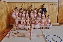 Gymnastky z Velké Bíteše.