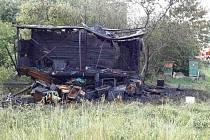 Včelín shořel včelaři v sobotu odpoledne v Rudě. Majiteli vznikla požárem škoda v předběžné výši 50 tisíc korun.