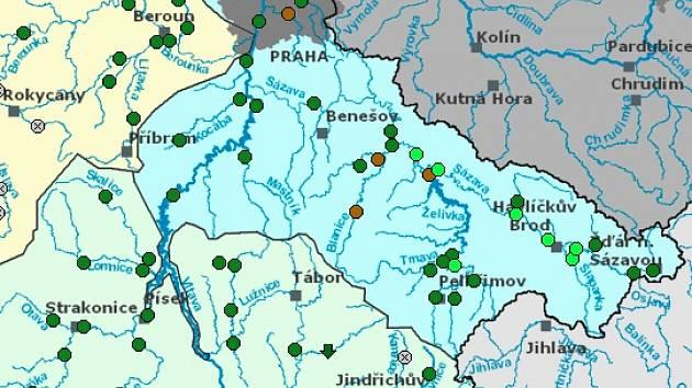Hladiny řek na Vysočině klesají. Rozbouřená Svratka se zklidnila i v Dalečíně