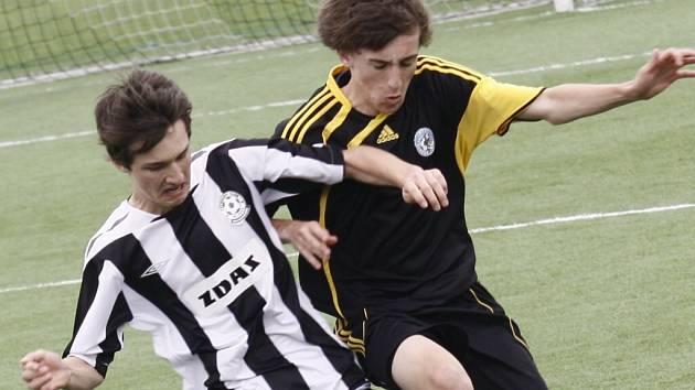 Mladí fotbalisté Žďáru vydolovali z dvojutkání s Prostějovem 4 body.