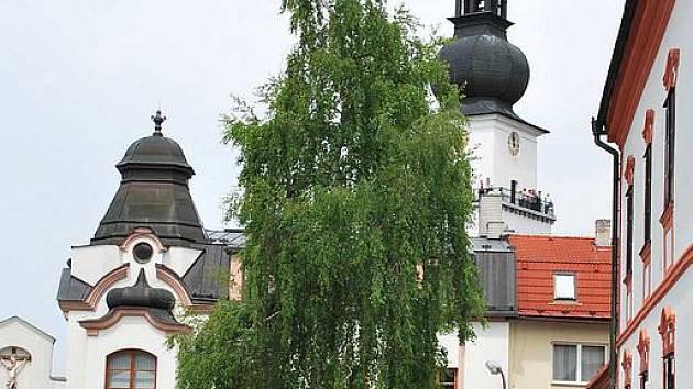 Věž kostela svatého Prokopa ve Žďáře nad Sázavou