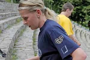 Rychlobruslařka Andrea Jirků se minulý týden blýskla i na kole.