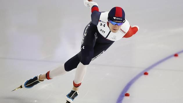 Česká rychlobruslařka Martina Sáblíková v závodu na 1500 m v Heerenveenu.