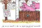 Výstava kresleného humoru.