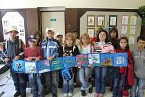 Leporelo nazvané Mořský svět vytvořili školáci Základní školy z Herálce.
