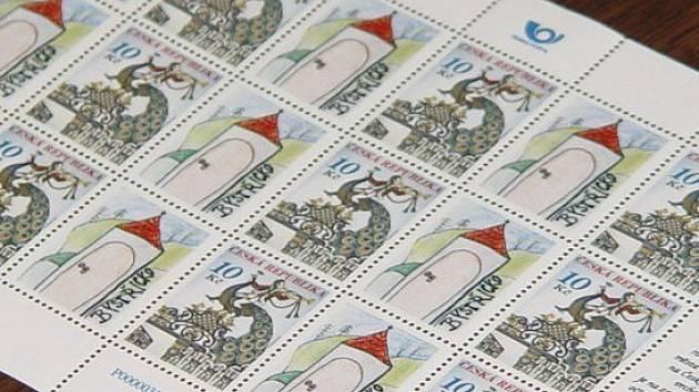 Přítisk poštovní známky s motivem Bystřicka navrhla Eva Chalupníková z Koroužného.