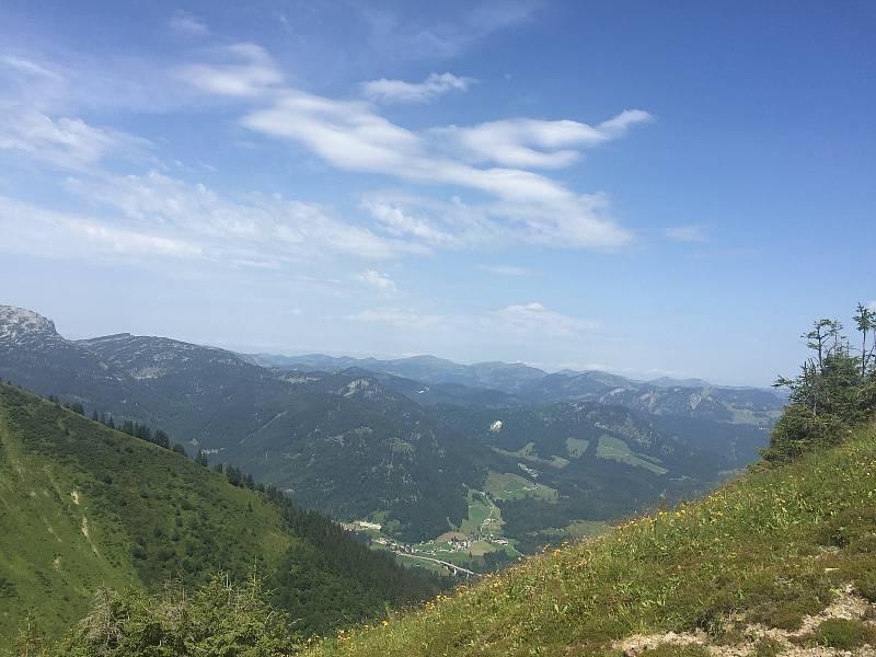 Pohled do údolí Kleiwalsertal