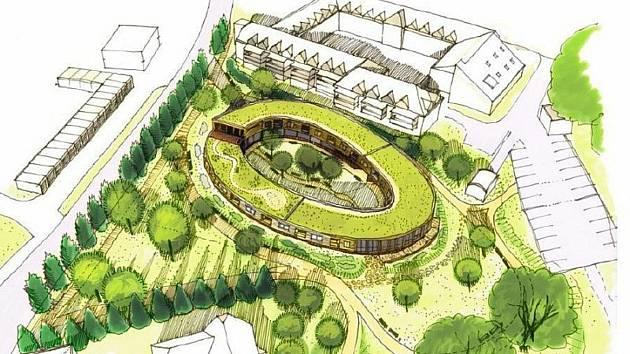 Dům se zvláštním režimem Pomněnka bude stát za Domem s pečovatelskou službou.