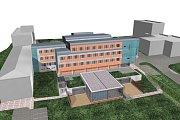 Pětatřicetimetrový komín, nacházející se v areálu novoměstské nemocnice, bude během krátké doby nahrazen novým.