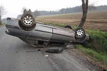 Z nehody u Branišova.