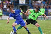 Zápas 1. kola MSFL mezi SFK Vrchovina a SK Uničov.