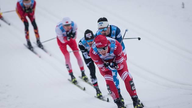 Jedna z momentech posledního ročníku Zlaté lyže v Novém Městě na Moravě.