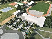 Okolí bystřického fotbalového stadionu se po přístavbě wellness centra a dalších stavebních úpravách změní.