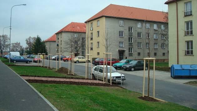 Višňová ulice v Bystřici nad Pernštejnem.