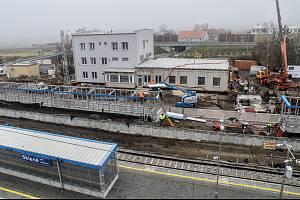Rekonstrukce výpravní budovy ve Skleném nad Oslavou skončí v březnu.