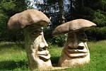 Sochy hřibů na Fryšavě jsou dílem Michala