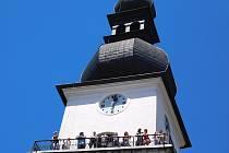Kostelní věž bývá přístupná několikrát do roka.