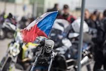 Žehnání motorkářům ve Velké Bíteši.